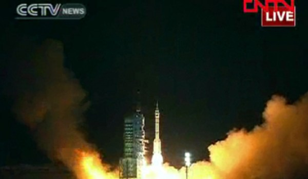 The launch of Shenzhou 8 (Source: CNN).