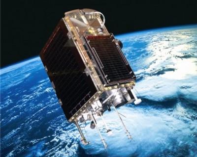 An artist's impression of SumbandilaSat in low-Earth orbit (Credits: defenceWeb).