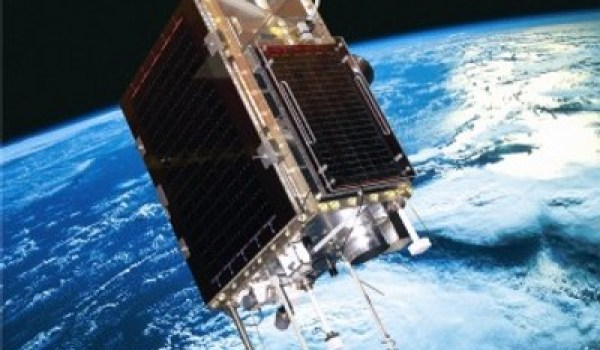 An artist's impression of SumbandilaSat in low-Earth orbit (Credits: defenceWeb).