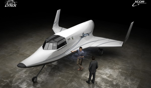 An artist's impression of the Lynx Mark I suborbital vehicle (Credits: XCOR).