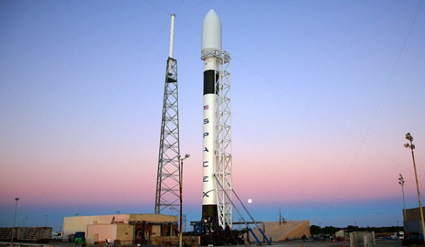 SpaceX's Falcon 9 rocket on the Cape Canaveral launch pad in early 2009 (Credits: SpaceX).