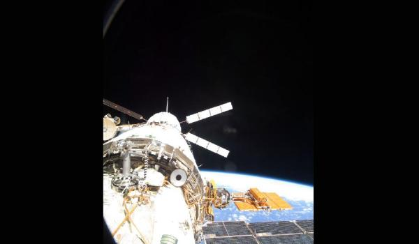 ATV-3 docked with ISS on March 28 (Credits: NASA)