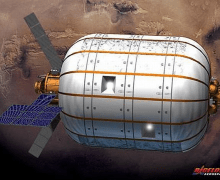 The BA 330 inflatable habitat (Credits: Bigelow Aerospace).