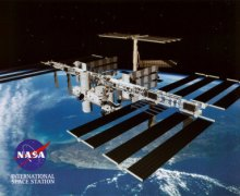 The International Space Station. Today, communications with Mission Control  was interupted for 3 hours (Credits: NASA).