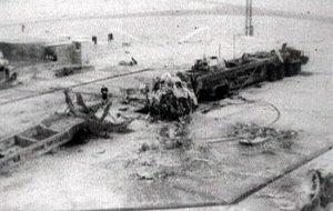 All that was left of the R-16 and its launch pad after the Nedelin Disaster (Credits: USSR).