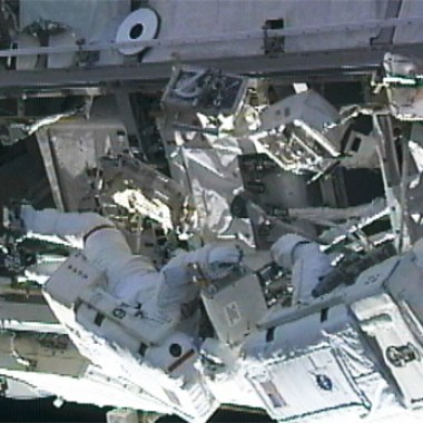 2010 EVA in which astronauts Douglas Wheelock and Tracy Caldwell Dyson replaced the same pump over the course of three EVA (Credits: NASA).