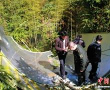 Debris from the Chang'e-3 moon-mission rocket launch was reportedly found in a forest in southwest China (Credits: ChinaNews).