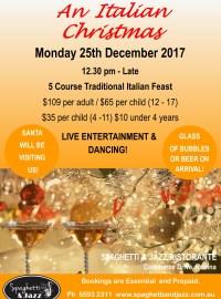 MONDAY 25th DECEMBER – 12.30 PM – AN ITALIAN CHRISTMAS
