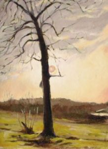 Limburg  25 x 35 cm  acryl op paneel  1992