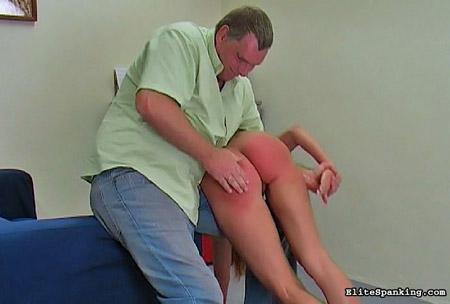 Bad girl bare ass daddy spank