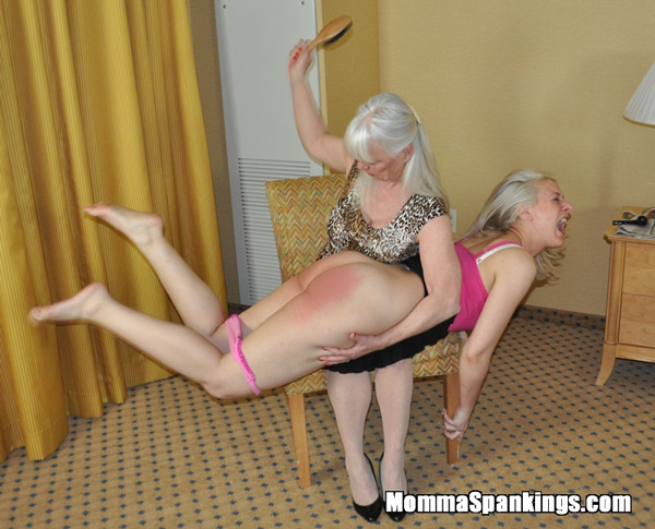 Sarah gets an old-fashioned spanking after Dana found she'd been spanked by Uncle Givan