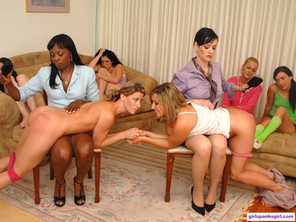 Lily Anna getting spanked by Snow Mercy on Exclusive Education 4