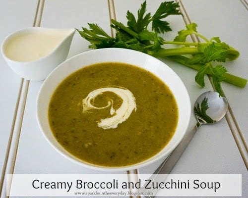 Creamy Broccoli and Zucchini Soup (GF) - Sparkles in the Everyday!