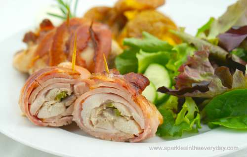 how to cook frozen bacon wrapped chicken
