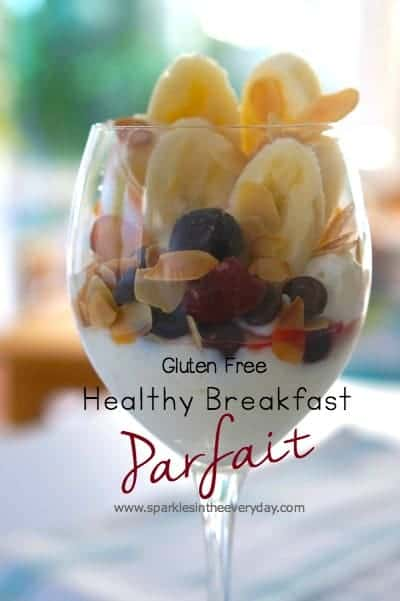 Healthy Breakfast Parfait with Toasted Almonds