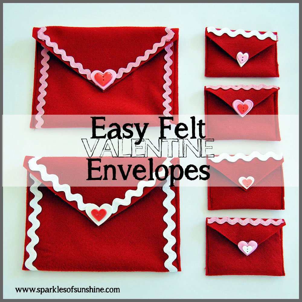 Sparkles of Sunshine: Easy Felt Valentine Envelopes