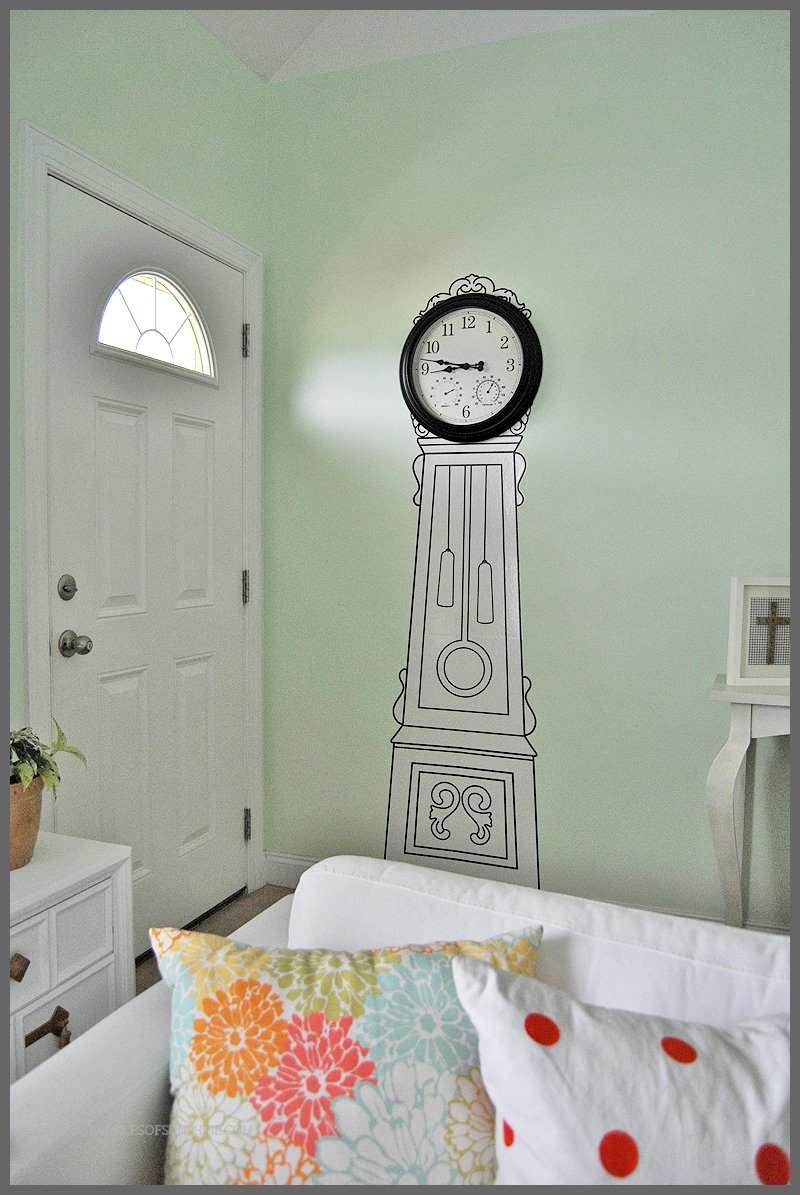 Fullsize Of Grandfather Clock Wall Stickers