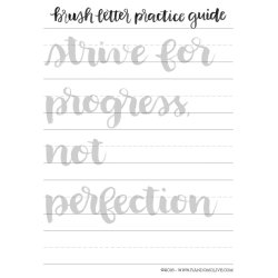 Corner How To Learn Brush Lettering Easy Way A Free Printable Practice Sheet 3 Free Brush Calligraphy Practice Sheets Calligraphy Practice Sheets Pdf