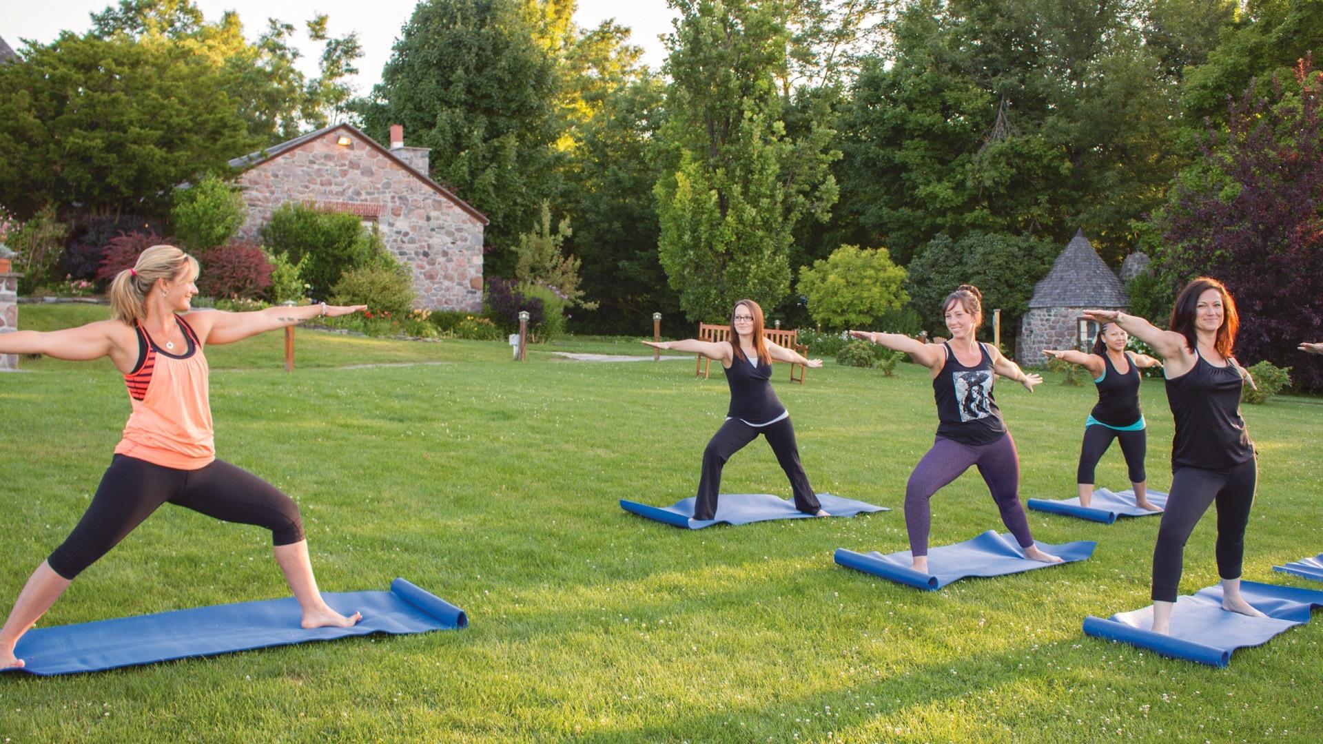 Yoga, Ste. Anne's Spa, Spas of America