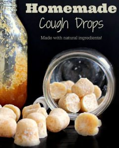 Homemade coconut cough drops