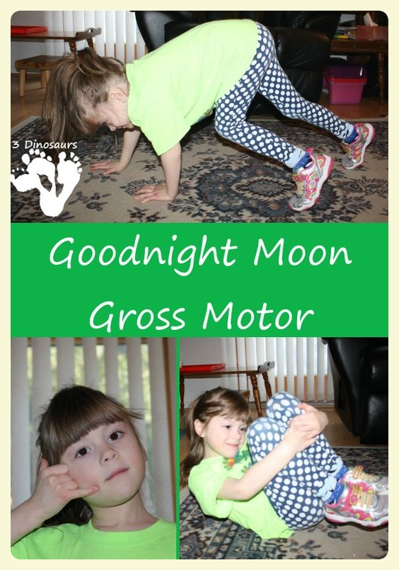 Good Night Moon gross motor activities. Special Learning House.