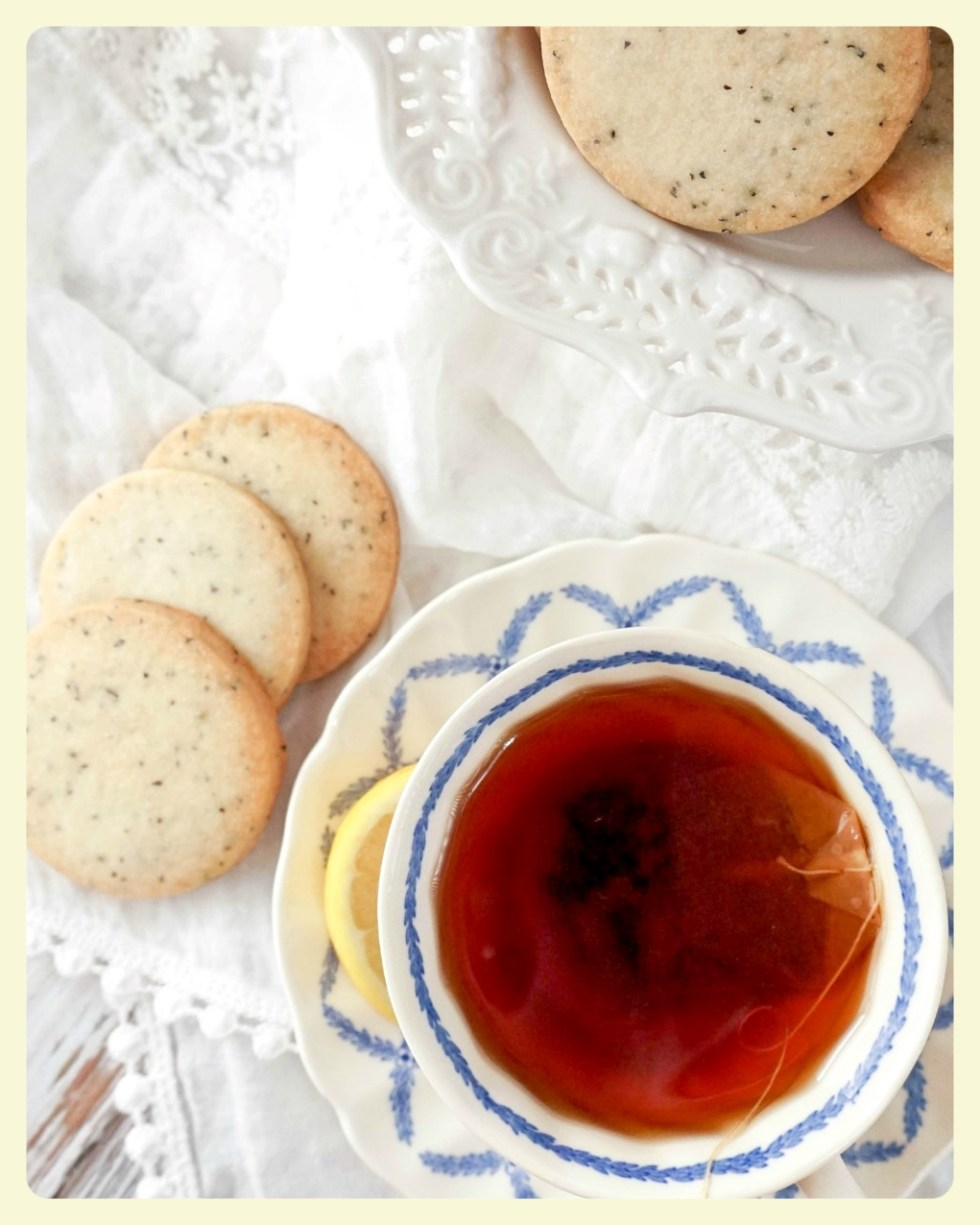 Earl grey shortbread cookies. Fabulous family recipes to try this weekend.