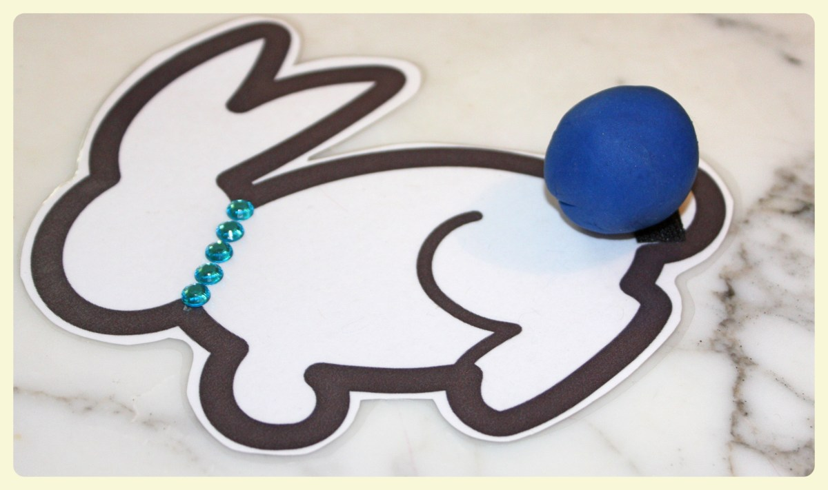 Stick-the-tail on the Easter bunny craft for kids + free printable