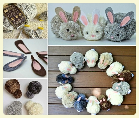 Easy DIY pom pom bunny tutorial - these are so cute and fun to make!