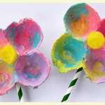 Flower power springtime crafts for kids