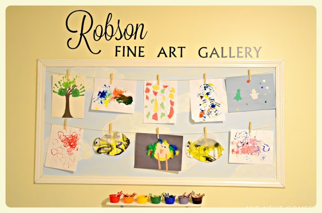Family fine art gallery children's art display ideas at https://speciallearninghouse.wordpress.com/ !