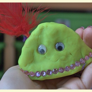 Silly playdough monsters