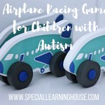 Airplane racing game for children with autism
