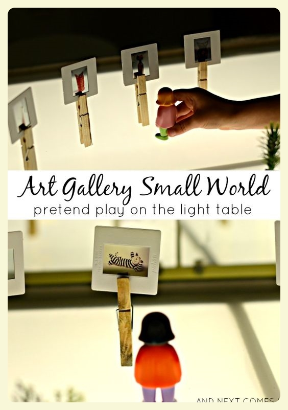 Art gallery small world idea. Featured by Special Learning House. www.speciallearninghouse.com.jpg