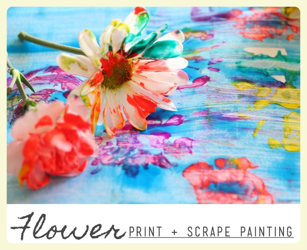 Flower Print and Scrape Painting. Learning about Claude Monet & the Impressionists. Featured by Special Learning House. www.speciallearninghouse.com.jpg