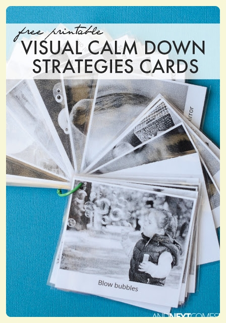 Free Printable Visual Calm Down Strategies for Kids | And Next Comes L