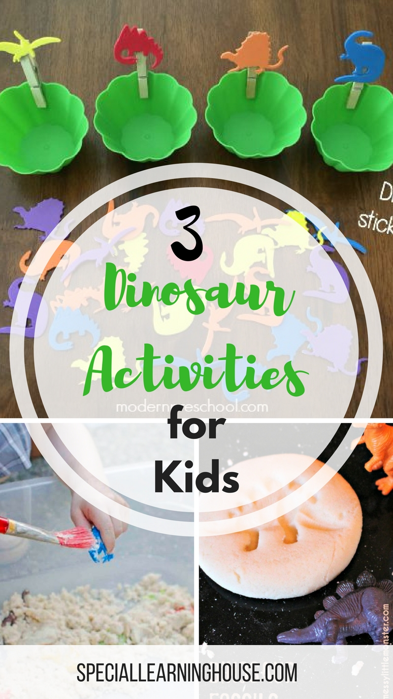 3 Dinosaur Activities for Kids. Engage your child and increase family fun and learning at home! | speciallearninghouse.com