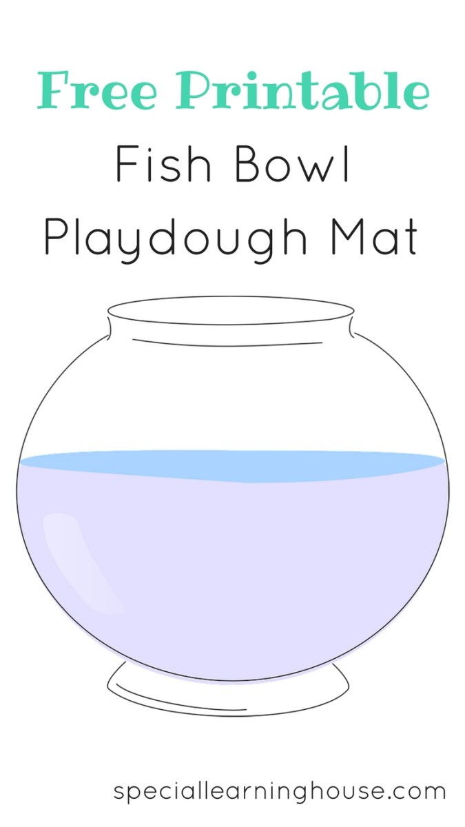 Fish bowl playdough mat (free printable)