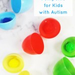 Color matching eggs & pompoms for kids with autism