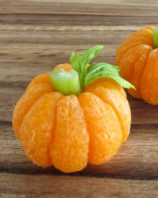 Prepare a Healthier Autism-Friendly Halloween. Tangerine Pumpkins. | speciallearninghouse.com