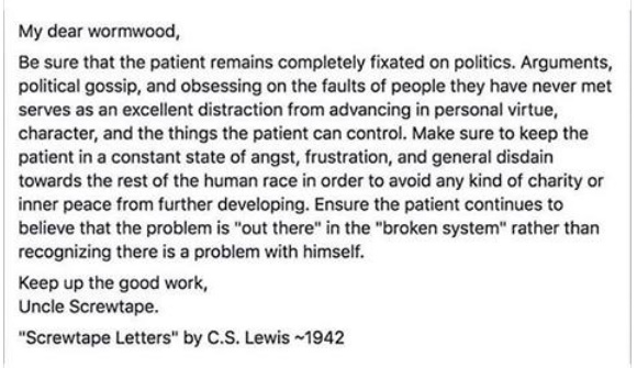Image result for cs lewis screwtape letters quotes