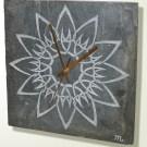 Celtic knotwork sunflower design slate clock