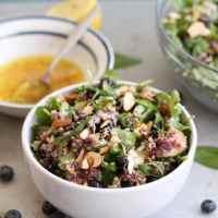 Balsamic Roasted Blueberry Arugula Salad