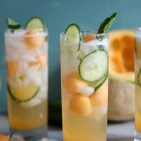 Cucumber Melon Gin Spritzers