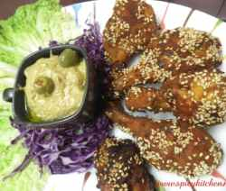 Chicken fry with Sesame seeds - Spicy Kitchen