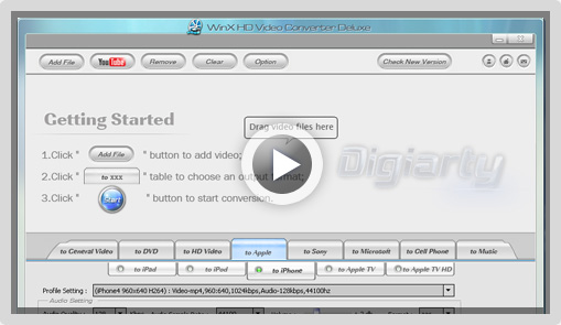 hvcd screenshot WinX HD Video Converter Deluxe Worth $49.95,Free [GiveAway]