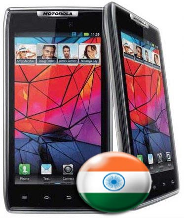 motorola droid razr Motorola RAZR Android  SmartPhone launched in India for Rs 33,990