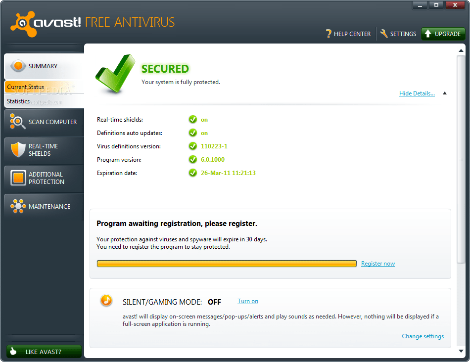 Avast Home Edition 55 Avast! Free Antivirus 7.0 Final Version, Free Download