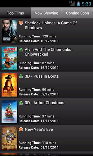 cineworld Best 10 Android Phone & Tablet Apps 2012