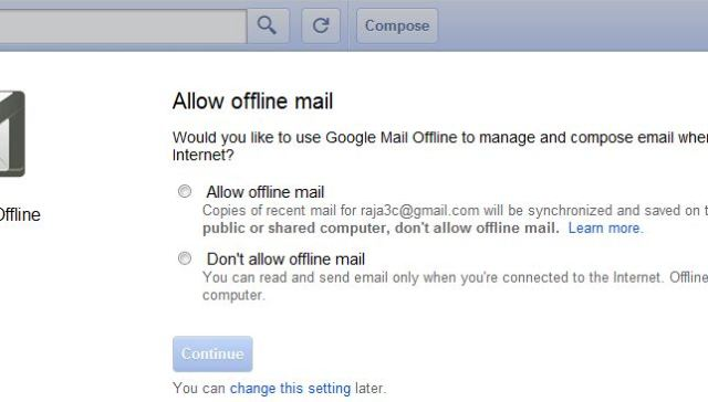 Gmail Offline beta 1024x364 How to Access your GMail Messages, Calendar and Docs in offline Mode