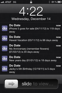 dodate Do Date    Event Date Calculator & Reminder & Sheduler iPhone App